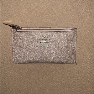 Rose Gold Kate Spade Small Slim Bifold Wallet